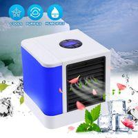 ingrosso dispositivi portatili-7 Colori Luci LED USB Air Cooler con dispositivo di condizionatore d'aria Timer Umidificatore Purificatore per Home Office