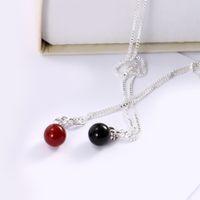 гипоаллергенное ожерелье оптовых- Ruby Hypoallergenic Silver Plated Jewelry Pendant Necklace Wedding Fashion Women Fine Jewelry