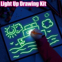 Wholesale toy magic drawing board for sale - Group buy Draw With Light Fun Drawing Board Toys Painting Supplies Baby Toys Magic Draw Educational Creative Home Luminous Hand A writing Board