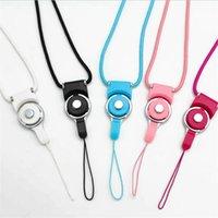 stoffcharme verkauf großhandel-50 CM Handy Lanyards Abnehmbare 2in1 Gewebe Umhängeband Charms Halskette Mit 12 Farben für mp3 mp4 Kamera ID Karte Fabrik verkauf