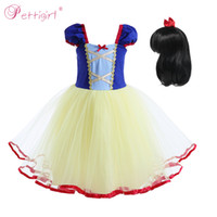 Wholesale clothing for retail resale online - Pettigirl Blue Girls Party Dresses Ball Gown Princess Dress with Big Bow Girls Vestido for Kids Retail Clothes CMGD90419