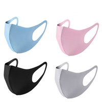 Wholesale hot Adult and kid Face Mouth Cover Mask Colors Dustproof Washable Reusable Ice Silk Cotton Masks Tools