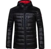 erkek pamuklu moda modası toptan satış-Kış Ceket Erkekler Giyim 2018 Yeni Marka Kapşonlu Parka Pamuk kanada Coat Erkekler Sıcak Kaz Ceketler Moda Palto 7696 Tutmak