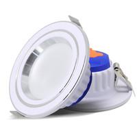 meilleurs luminaires encastrés achat en gros de-LED 3 couleurs Downlight décolorable 7W luminaires rond lampe encastrée AC220V cuisine cuisine intérieure LED Spot éclairage