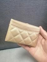 carteras de regalo de boda al por mayor-2019 marca de moda clásica Mini billetera con el titular famoso C logo PU bolsa titular de la tarjeta Moneda bolsa Regalo VIP de boda de lujo