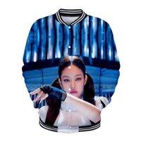 флисовая бейсбольная куртка женщины оптовых-Blackpink 3D печатных Kpop Бейсбол куртки женщины / мужчины мода с длинным рукавом куртка 2019 горячая распродажа повседневная модные уличная одежда