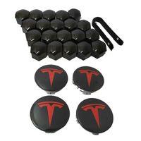 reifenzubehör groihandel-Tesla Modell S x Auto Nabe Schraubdeckel Zierkappe Reifen Schraubdeckel Modifikationszusätze