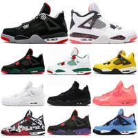 sports shoes aeb34 b0a80 nike air jordan retro shoes Scarpe da basket uomo Travis Houston blu 4  Raptors 4s Pure Money Black Cat cemento bianco Bred Fire red Fear Sneakers  sportive ...