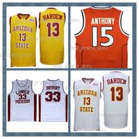 melhores camisas venda por atacado-433 Arizona State Sun Devils NCAA 33 Bryant 13 Harden College Basketball jerseys 2019 Best-seller Jersey 46555