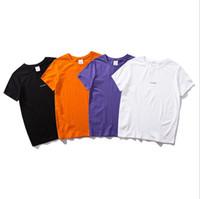 chemises pour hommes de marque achat en gros de-chemises de marque pour hommes t-shirt de marque tops fashion marée luxe Mens t-shirt tendance avec lettre hip hop