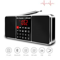 dual sd mp3 groihandel-Digital-AM FM-Radio Bluetooth-Stereo-Lautsprecher MP3 Player TF / SD-Karte USB-Laufwerk freihändiger Anruf LED-Display-Bildschirm Dual-Lautsprecher
