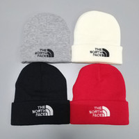 Wholesale womens crochet hats resale online - 2019 Winter Warm Outdoor Ski Hats The North Print Unisex Crochet Hats Trendy Brand Face Cycling Beanie Skull Caps For Mens Womens C101504