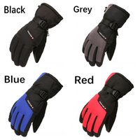 Wholesale warm waterproof gloves for men resale online - 4 Colors Knitting Outdoor Winter Waterproof Motorcycle Sport Gloves Windproof Warm Skiing Riding Climbing Cycling Gloves For Men Women M90F