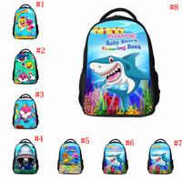 Wholesale shark art for sale - Baby Shark Backpack Styles Cute Cartoon Animal Schoolbag Kids Shark Printed Outdoor Travel Bags OOA6414