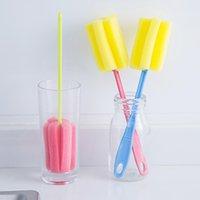 uygun yiyecek toptan satış-Toptan Gıda Sınıfı Su Bardağı Temizleme Fırçası Kanca Mix Renkler Ile Uygun Uzatmak Kolu Yumuşak Sünger Su Şişesi Fincan Fırça DH0695