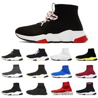 koşu ayakkabı bağcığı toptan satış-Balenciaga sock shoes New designer socks Shoes Speed Trainer men Running Shoes Speed Trainers Sock Race Runners women Sports Shoe Luxury shoes size 36-45