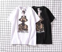 camisas do personagem de banda desenhada venda por atacado-Ape Kanye West dos homens designer de camisetas Personagem de desenho animado Impressão T-shirt streetwear mangas curtas T-Shirt medo de deus casal t-shirt suprême