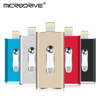 ipad clignotant achat en gros de-OTG Clé USB pour iPhone X / XS / 8/7 Plus Clé USB Mémoire Pendrive HD en Métal 8G 16G 32G Clé USB 64G