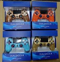 spielcontroller groihandel-PS4 drahtloser Bluetooth Spiel Gamepad SHOCK4 Controller für PS4-Game-Controller mit neuen Kleinpaketkasten