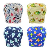 Wholesale new waterproof cover resale online - Mixed Colors Baby Reusable Swimming Cloth Diapers Washable Patterns Printed Baby Nappies Brand Adjustable Diapers for Newborn