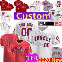 envie camisetas de baseball autênticas venda por atacado-2020 nke Personalizado 27 Mike Trout Anthony Rendon 5 Albert Pujols 17 Shohei Ohtani Jersey 29 Rod Carew 2 Simmons Weaver