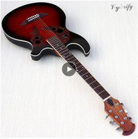 Wholesale guitar stock for sale - Group buy stock inch round back acoustic electric guitar high gloss basswood top string acoustic guitar with EQ tuner function