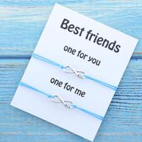 sonsuzluk dostluk bilezikleri hediye toptan satış-Best Friend Eşleştirme Bilezik Infinity Charm Bff Arkadaş BFF Dostluk Bilezikler Hediye Infinity Bilezik Kadın Erkek Takı