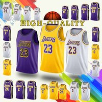 promotion Los Angeles 23 LeBron James Jerseys Laker Kobe 24 Bryant Kyle 0  Kuzma Lonzo 2 Bal Jersey 2019 new Cheap sales a1d3dc097