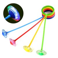 cuerda de bola intermitente al por mayor-LED Flash Jumping Ball Salta la cuerda Círculo Divertido Juguetes Bolas saltar anillo saltar sola cuerda para niños