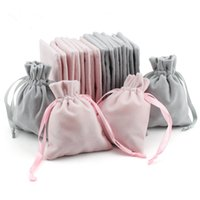 Wholesale velvet cosmetic bags for sale - Group buy 8x10cm Velvet Jewelry Pouches Cosmetic Christmas Wedding Party Favors Packaging Gifts Bags Wrapping Drawstring Sack Bag Pouch