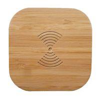 qi зарядное устройство оптовых-Ци Беспроводное зарядное устройство Wood 10W Быстрый беспроводной зарядки Pad для Samsung Galaxy Note 9 S9 S8 S7 край S6 Для iPhone 8 X XS XR XMAX