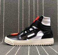 cordón negro de los hombres al por mayor-Blanco Negro Hombre Off Shoelace Trails Moda Casual Diseñador Zapatos