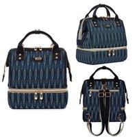 moda bebek bezleri toptan satış-Bebek Bakım Bag Hemşireliği Anne Bebek bezi değiştirme çantaları Seyahat Hamile Sırt Şarj Moda Mumya Bezi Çanta USB