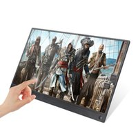 ingrosso monitor lcd usati-Touch screen IPS 15.6 pollici super sottile per PS3 PS4 XBOX Monitor portatile uso auto per PC portatile 1920 * 1080P HD LCD Screen
