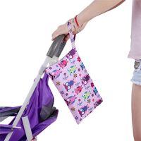 Wholesale baby cloth diapers cartoons for sale - Group buy 27 cm Traval Portable Storage Bags Cartoon Single Wet Bag Pocket Baby Cloth Diaper Bag Waterproof Reusable Diaper Bags