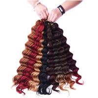Wholesale best hair extensions for sale - Group buy Synthetic Hair Bulk Crochet Braiding Deep Wave Twist inch g Synthetic Braid Hair Extensions Best Selling