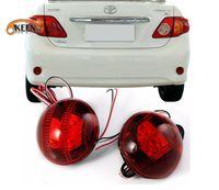 Wholesale led lens reflectors for sale - Group buy For toyota Corolla led rear lens reflector Tail Brake Lights V Red Rear Bumper Reflector