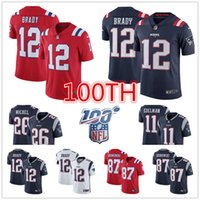 england patrioten großhandel-Neuen Männer 12 Tom Brady Jersey england 87 Rob Gronkowski Patriot 26 Sony Michel 11 Julian Edelman American Football-Trikots