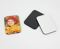 7cmx5cmx0.4cm Blank Sublimation Wooden Custom Refrigerator Magnet Heat Transfer Printing MDF Fridge Magnets