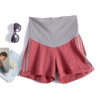 doğum sporları toptan satış-Annelik Shor Hamile Hamile Kadınlar Için Spor Kısa Yaz Pantolon Gravidas Giyim Elastik Karın Pantolon ayarlamak