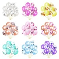 Wholesale bouquet toys diy for sale - Group buy 10pcs Rose Gold Blue Pink Confetti Balloon Set Bouquet Baby Shower Happy Birthday Party Globos DIY Wedding Decoration Kids Toys