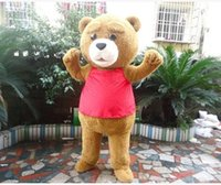 filme teddy traje venda por atacado-2018 Hot sale Ted Teddy Bear Filme Personagem de Desenho Animado Do Personagem Do Traje Da Mascote
