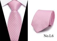 erkekler için resmi kravat toptan satış-toptan Yeni Çizgili İpek Kravat 7.5cm Lüks Paisley Kravat Kırmızı Bule Mor Boyun Tie İçin Erkekler Örgün İş Düğün Bağları