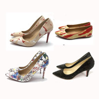 Wholesale model sandals for sale - Group buy red bottom Heel shoes Mix models Wedding shoes Women Pointed Toe High Heels Studded Strappy Slingback Stilettos Leather Sandals Pumps