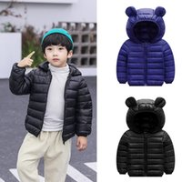 Wholesale kids jackets hooded ears for sale - Group buy 2019 Kids Clothes Chlidren Hooded Boys Girl Jackets Winter Coats Jacket Zip Windbreaker Thick Ears Snow Clothes Fashion Coat