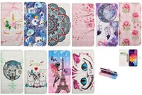 Wholesale iphone skull silicone for sale – best 3D Flower Lace Leather Wallet Case For Samsung A70 A50 A40 A30 A20 A10 M30 M20 M10 Skull Butterfly Feather Lover Unicorn ID Card Flip Cover