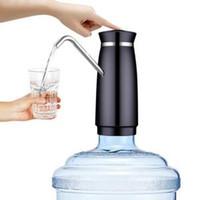 distribuidor garrafa água potável venda por atacado-Distribuidor de Água automático Elétrico Dispensador de Água Portátil Dispensador de Garrafa de Água Interruptor de Carregamento USB Carregador de Água Elétrico RRA213