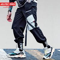 baggy hip hop harems pants toptan satış-Aelfric Eden Cepler Kargo Pantolon Erkek Casual Harem Joggers Baggy Harajuku Streetwear Hip Hop Moda Yağma Taktik Pantolon KJ64