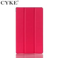 sony z3 kompakt flip kılıf toptan satış-CYKE Standı Kapak Folio Deri Koruyucu Kapak SONY Xperia Z3 tablet Sony Xperia Z3 tablet için Kompakt Durumda vaka