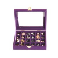 ingrosso negozi di gioielli-Jewelry Box Earrings 24 Trumpet Necklace Jewelry Storage Display Holder Box Organizer per uso domestico Jewelry Shop